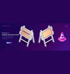 website under construction maintenance work error vector image