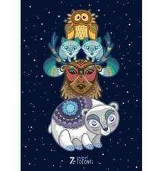 Wild totem animal polar vector