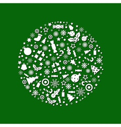 Christmas Ball And Green Background vector image