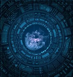 Futuristic hud elements design techno background vector