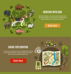 hunting banners set vector image vector image