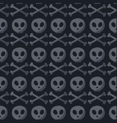skull and crossbones seamless pattern vector image