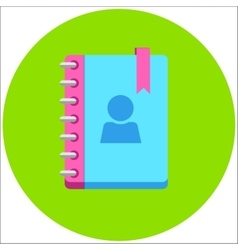 Address phone book notebook icon Flat style vector image