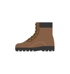 boot shoes icon flat design vector image vector image