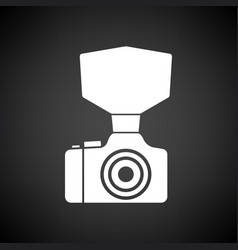 camera with fashion flash icon vector image vector image