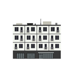 condominium building vector image
