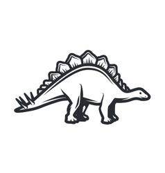 dino Logo concept Stegosaurus insignia vector image vector image