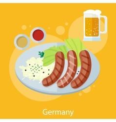 Oktoberfest germany food vector image vector image