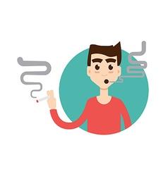 Smoking Characters icon vector image