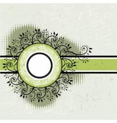 vintage floral frame vector image