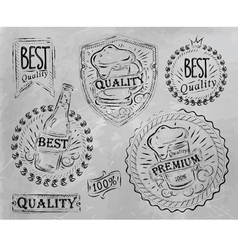 Beer Quality elements gray vector image vector image