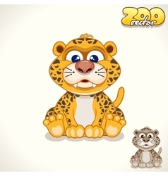 Cartoon Leopard Character vector image vector image
