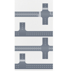 curved road with white markings vector image