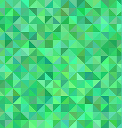 Green triangle mosaic pattern background design vector