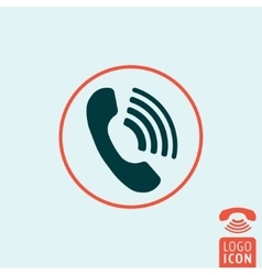 Phone icon isolated vector image vector image