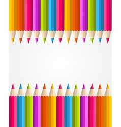 Rainbow colorful pencils banner pattern vector image vector image