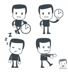 time icon man set030 vector image