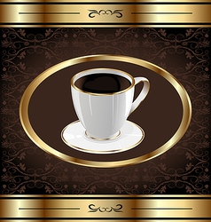 Vintage label for wrapping coffee coffe cup vector image vector image