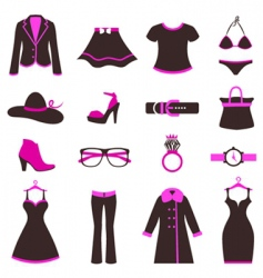Women fashion icons vector