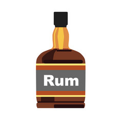 bottle with rum vector image