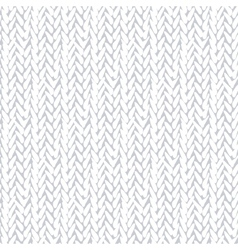 White pattern with stylized sweater fabric vector image