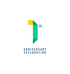 1 th anniversary celebration template design vector