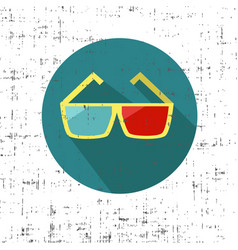 3d glasses on a white background with screen vector
