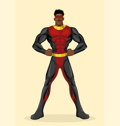 a black superhero vector image