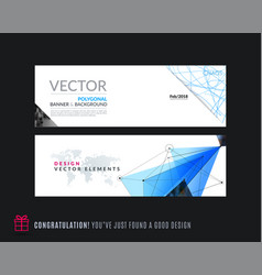 Abstract set of modern horizontal website vector