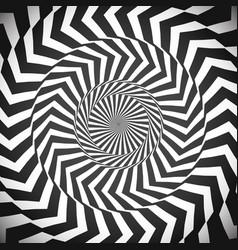 angular spiral background whirlpool hypnotism vector image