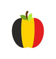apple belgium flag belgian national fruit vector image