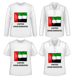 Arab Emirates shirts vector image