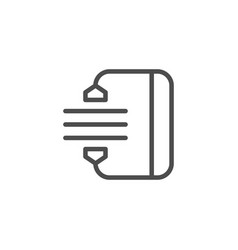 archiving line icon vector image