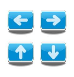 arrow buttons vector image