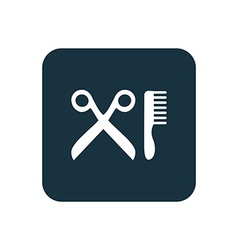 barbershop icon Rounded squares button vector image