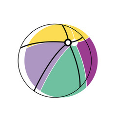 Beach ball to play in the vacation vector