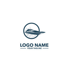 boat logo vector image