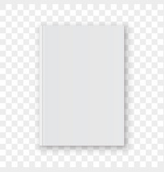 book cover blank white mockup model vector image