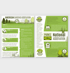 Brochure for landscape or gardening company vector