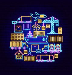 cargo express neon concept vector image