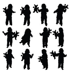 child with toy vector image