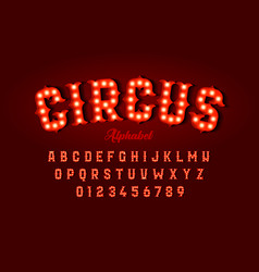 Circus style font design vector