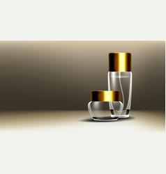 cosmetic glass design face care facial vector image