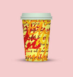 Creative modern stylish paper coffee cup vector
