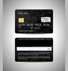 Credit cards set with black background vector