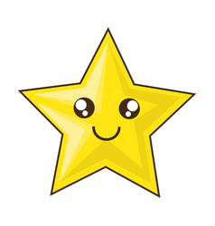 Cute star cartoon vector
