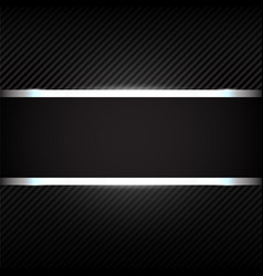 dark background with metallic banner vector image