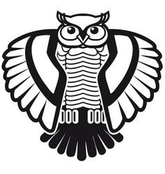 design for logo black and white owl vector image