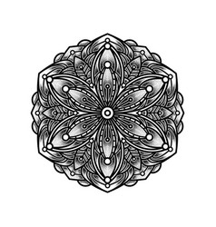 Design mandala pointillism tattoo vector