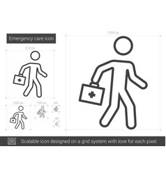 Emergency care line icon vector